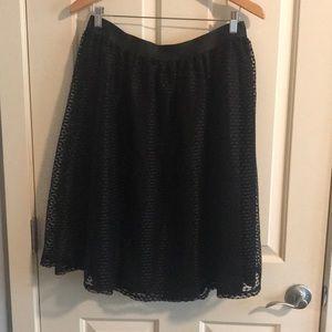 Fully lined black skirt